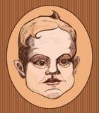 Portret chłopiec royalty ilustracja