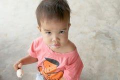 Portret chłopiec dzieciaka lody Zdjęcie Stock