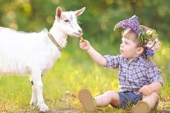 Portret chłopiec w lecie Fotografia Royalty Free