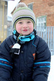 Portret chłopiec zima Fotografia Stock