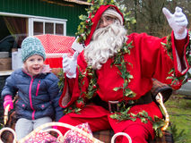 Portret child with Father Xmas, Holland Stock Images