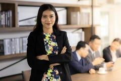 Portret Confidense bizneswoman obraz stock