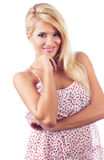 Portret cudowne blond kobiety Obrazy Stock