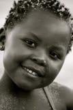 Portret czarna dziewczyna Zdjęcia Stock