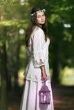 Portret czarodziejska piękna kobieta Zdjęcia Stock