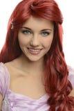 Portret czerwieni głowiasty princess fotografia stock