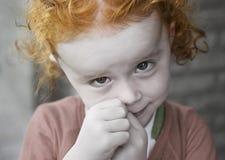portret czerwone włosy dziecka Obraz Royalty Free