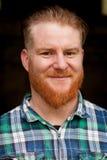 Portret czerwony z włosami mężczyzna z długą brodą Fotografia Stock