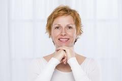 Portret czterdzieści rok kobiet Zdjęcia Stock