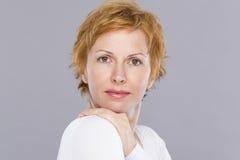 Portret czterdzieści rok kobiet Obraz Stock