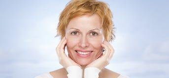 Portret czterdzieści rok kobiet Fotografia Royalty Free