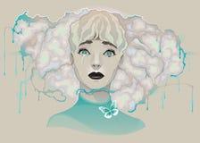 Portret dama Zdjęcia Royalty Free