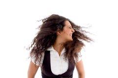 portret dancingowa kobieta Zdjęcie Royalty Free