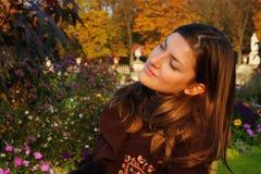 Portret in de herfstkleuren Royalty-vrije Stock Foto