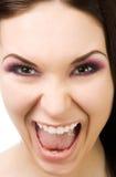 Portret de la mujer de griterío Imagen de archivo