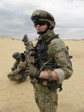 Portret de la OTAN del soldado de Polonia Fotos de archivo