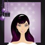 Portret De Noël royalty ilustracja