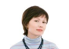 Portret de uma mulher bonita; isolado no branco Imagem de Stock Royalty Free