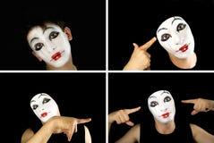 Portret del mime Fotografie Stock Libere da Diritti