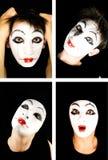 Portret del mime Fotografia Stock Libera da Diritti