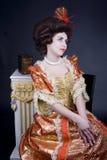 Portret del siglo XVIII Imagen de archivo libre de regalías