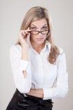 Portret della donna di affari Fotografia Stock