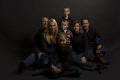 Portret della famiglia fotografia stock libera da diritti