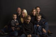 Portret della famiglia Fotografia Stock