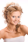 Portret dello studio della sposa Immagine Stock