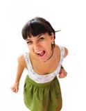 Portret der schreienden Frau Lizenzfreie Stockbilder