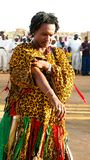Portret derwisz przy sufi festiwalem w Omdurman, Sudan obraz stock