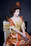 Portret di XVIIIesimo secolo Immagine Stock Libera da Diritti
