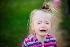 Portret die met scheuren van een kind schreeuwen Royalty-vrije Stock Fotografie