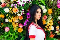 Portret die mooie sexy vrouw charmeren Aantrekkelijk mooi geslacht royalty-vrije stock fotografie