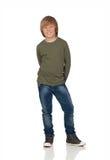 Portret van aanbiddelijke kind status Stock Fotografie