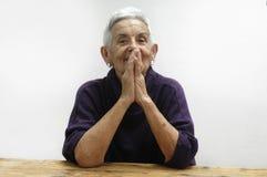 portret dof seniora płycizny kobieta Fotografia Stock