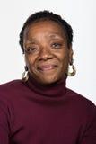 Portret dojrzała amerykanin afrykańskiego pochodzenia kobieta obrazy stock