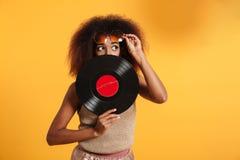 Portret dosyć śmieszna afro amerykańska kobieta Obraz Royalty Free