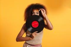 Portret dosyć afro amerykańska kobieta Obraz Royalty Free