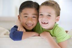 portret dwóch chłopców zdjęcie royalty free