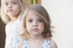 Portret dwa dziewczyny Fotografia Royalty Free