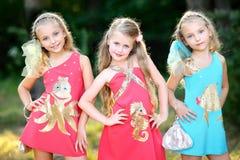Portret dwa dziewczyny dziewczyny Zdjęcia Stock