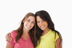 Portret dwa młodego przyjaciela zdjęcie stock