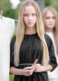 Portret dwa młodej dziewczyny dziewczyny Fotografia Royalty Free