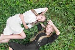 Portret dwa młodej dziewczyny dziewczyny Obraz Stock
