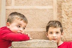 Portret dwa małego blond dziecka obraz royalty free