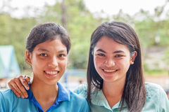 portret dwie kobiety Obrazy Royalty Free