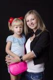 Portret dziecko i matka Obrazy Royalty Free