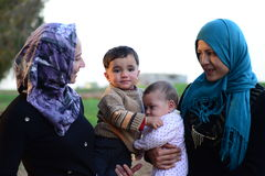 Portret dziecko uchodźca Fotografia Stock