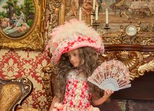 Portret dziecko w karnawałowym kostiumu Obraz Stock